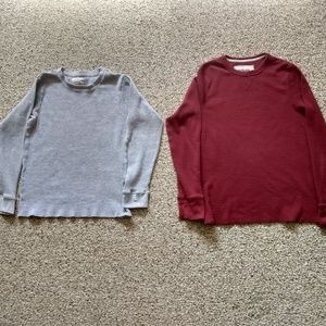 Two Men's Thermal Shirts